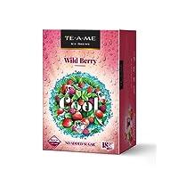TE-A-ME Ice Brews Cold Brew Ice Tea, Wild Berry, 18 Pyramid Bags