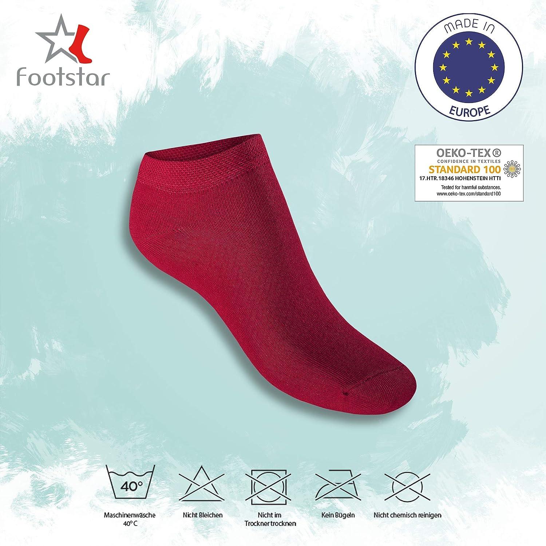 Footstar SNEAK IT Donna /& Uomo 10 Coppia Sneaker Calzini