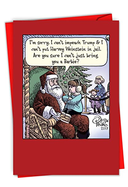 Funny Things To Write In Christmas Cards.Amazon Com Can T Impeach Trump Funny Merry Christmas