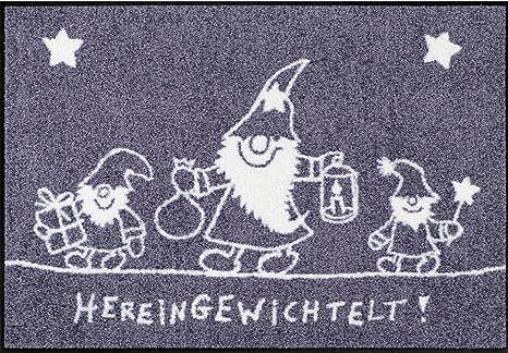 Fußmatte Hereingedackelt Weihnachten waschbar trocknergeeignet