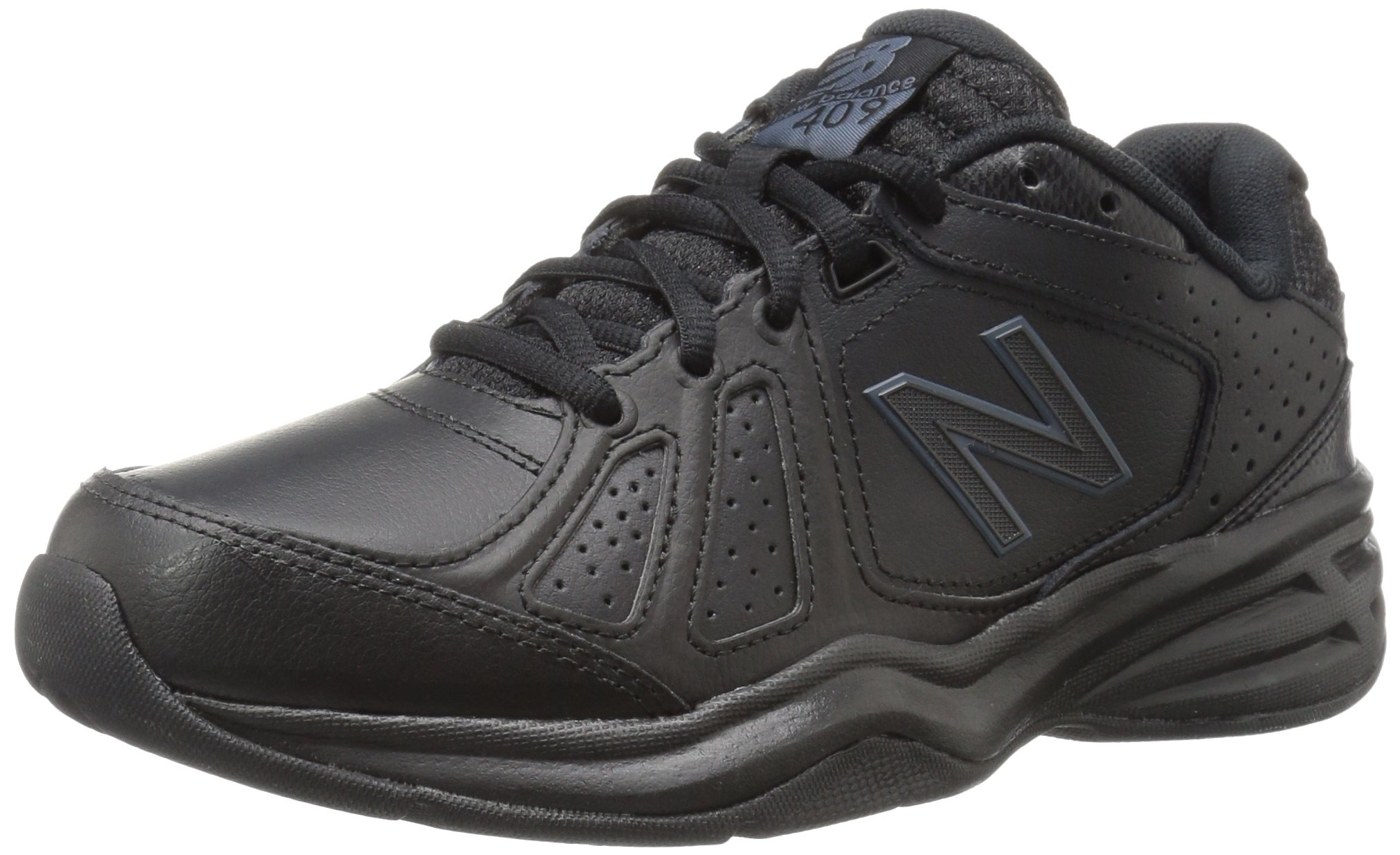 New Balance Women's WX409V3 Casual Comfort Training Shoe, Black, 8 B US