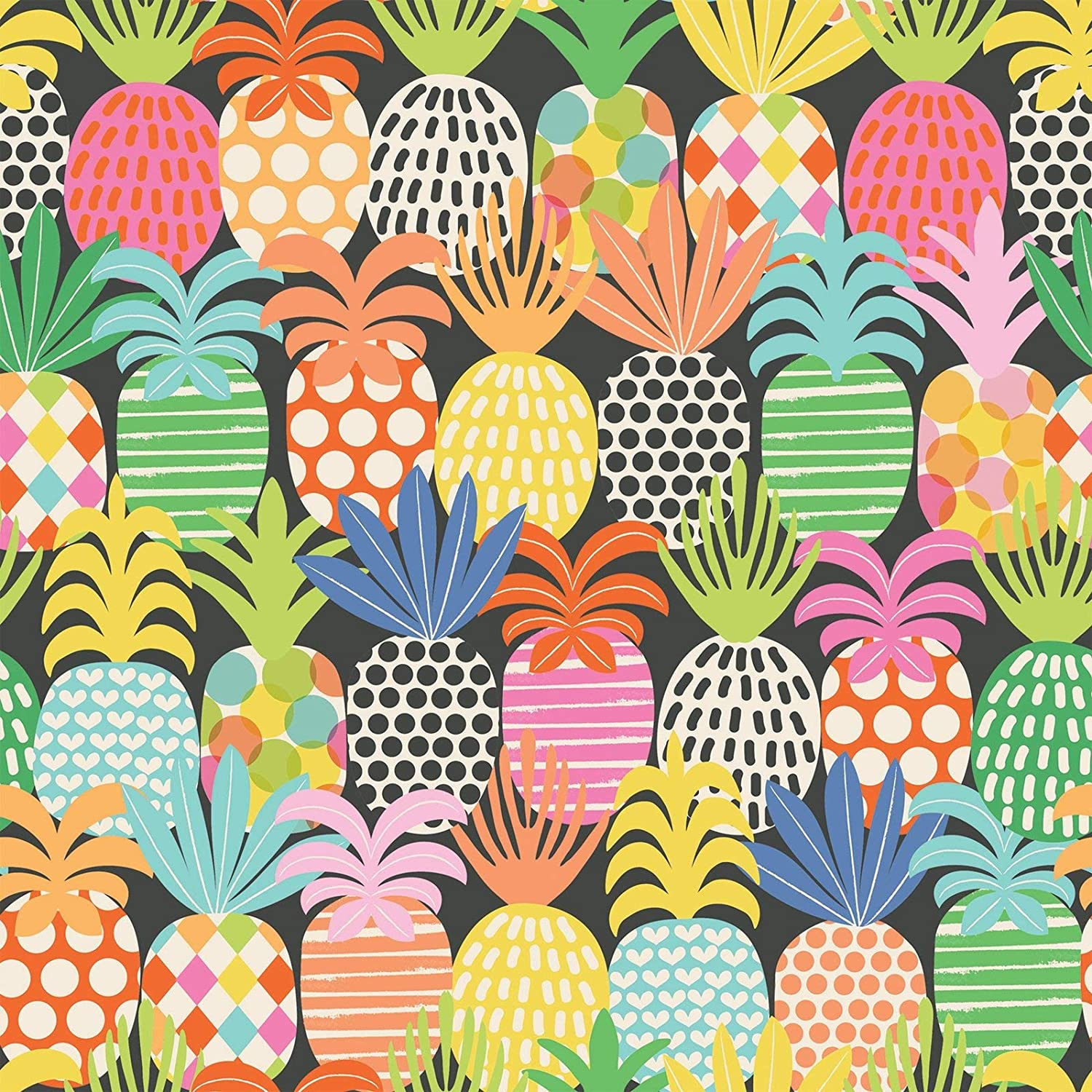 Colors of Rainbow - Pineapple Pop - Gift Wrap Paper, 2.5 Feet x 10 Feet, Folded Flat, Not Rolled - Pineapple Pop