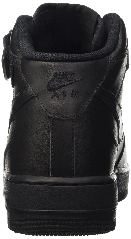 Nike Air Force 1 Mediados Blancos Jóvenes Negros Zapatos De La Zapatilla bS1msOpviv