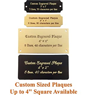 graphic about Printable Trophy Labels called : Custom made Trophy Plate / Standing Plate With 3 Strains