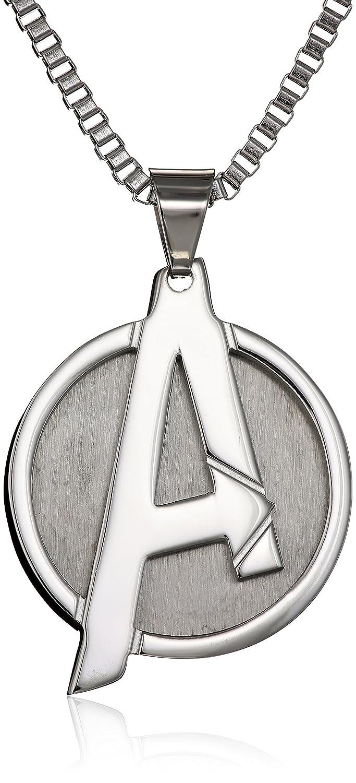 Marvel Comics UnisexA Logo Avengers Stainless Steel Chain Pendant Necklace, 24 Body Vibe 24 Salesone International AVGRPNK01