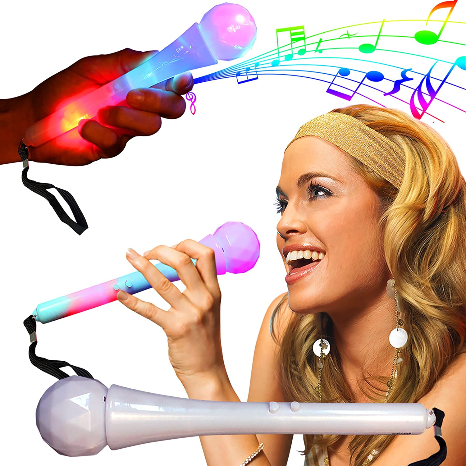 LED Sound Activated Microphone Windy City Novelties