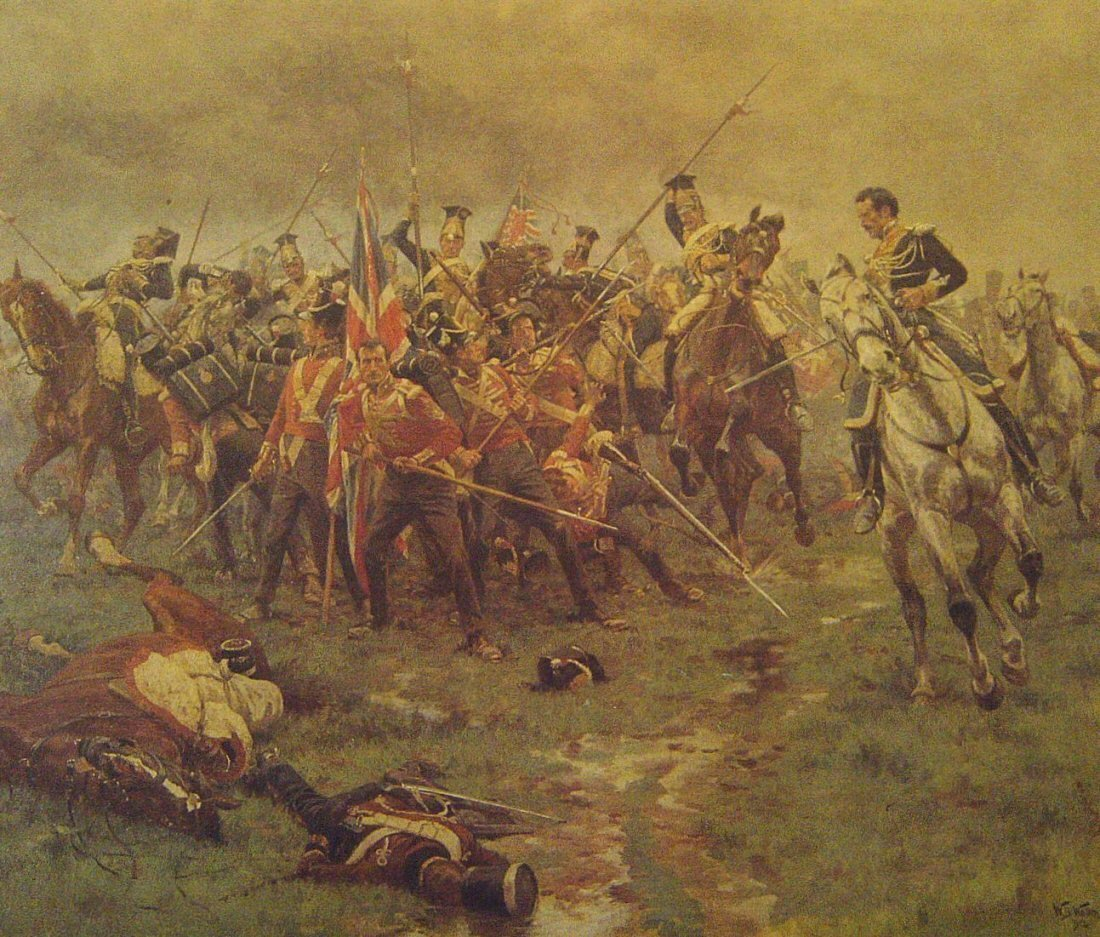 Battle of Albuhera by William Barnes Wollen. Military Art Print. Cranston Fine Arts