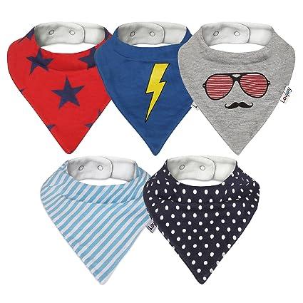 Baby Infant Toddler Plaid Cotton Bandanna Bib Check Dribble Bibs Gift