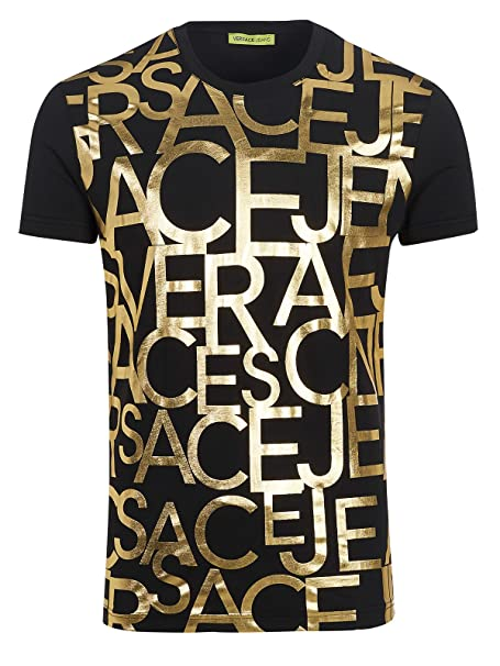 Versace Jeans Couture - Camiseta - Camiseta - para hombre Negro negro Small(UK)