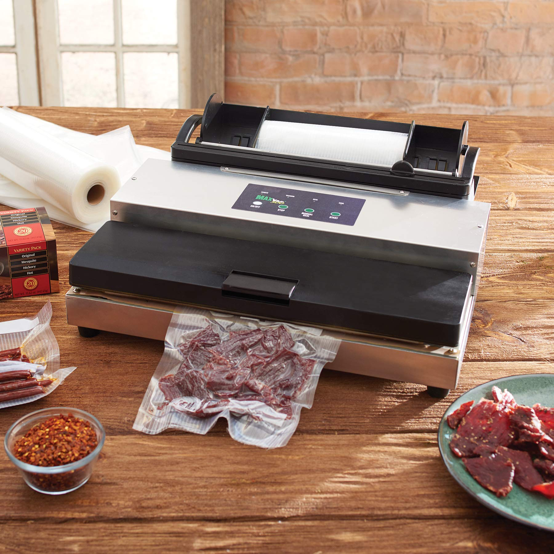 LEM Products 1253 MaxVac 500 Vacuum Sealer with Bag Holder & Cutter by LEM