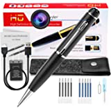 Hidden Mini Camera Spy Pen, Portable Small Cam 1080p HD Camcorder Surveillance DVR Camera Video and Photo Quality Clear with Protected Bag and 10 Refills