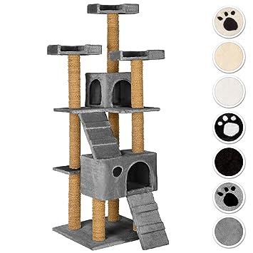 TecTake Rascador Árbol para gatos 169 cm de altura - disponible en diferentes colores - (gris | No. 402192): Amazon.es: Hogar
