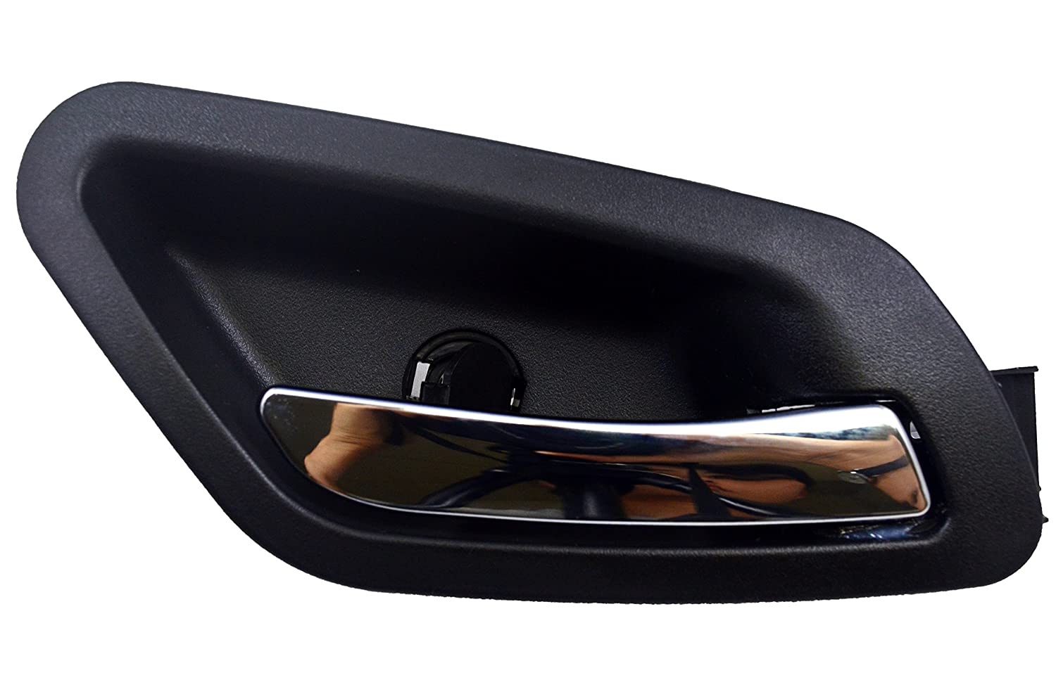 without Power Switch Hole Black Housing with Chrome Lever Passenger Side Front PT Auto Warehouse GM-2379MA-FR Inside Interior Inner Door Handle