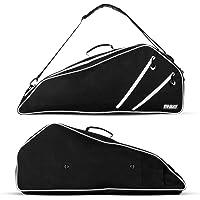 Fitdom - Bolsa de raqueta de tenis, color negro, puede llevar hasta 3 raquetas, perfecto para hombres, mujeres, niños y…