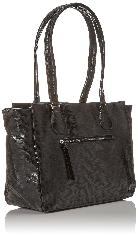 Damen Babette Handbag Henkeltasche, (Black Comb.), 10,5x24x28 cm Tamaris