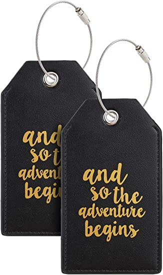 Music Notes Water Baggage Tag For Travel Tags Accessories 2 Pack Luggage Tags