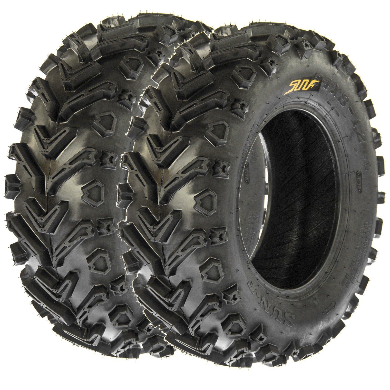 SunF 24x8-12 24x8x12 All Terrain Mud ATV UTV Tires 6 PR A041 (Set pair of 2)