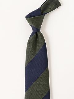 Silk Stripe Tie 21-44-6007-380: Olive