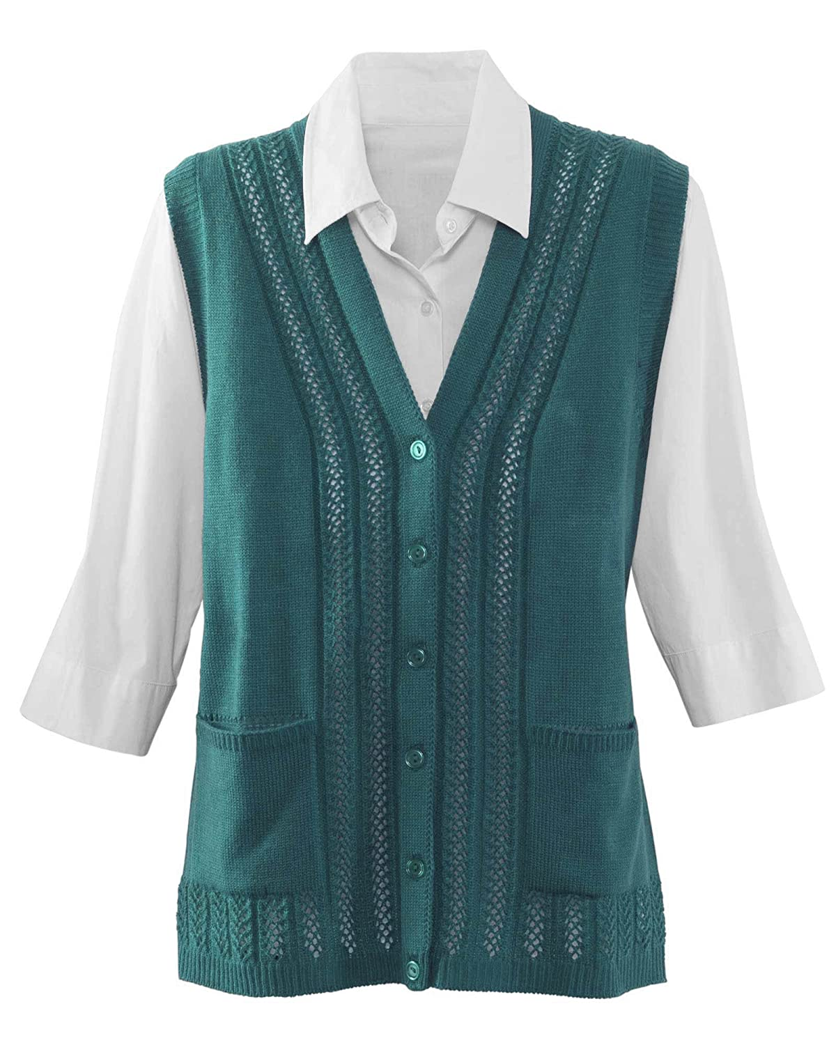 Ladies' Colorful 1920s Sweaters and Cardigans History National Classic Sweater Vest  AT vintagedancer.com