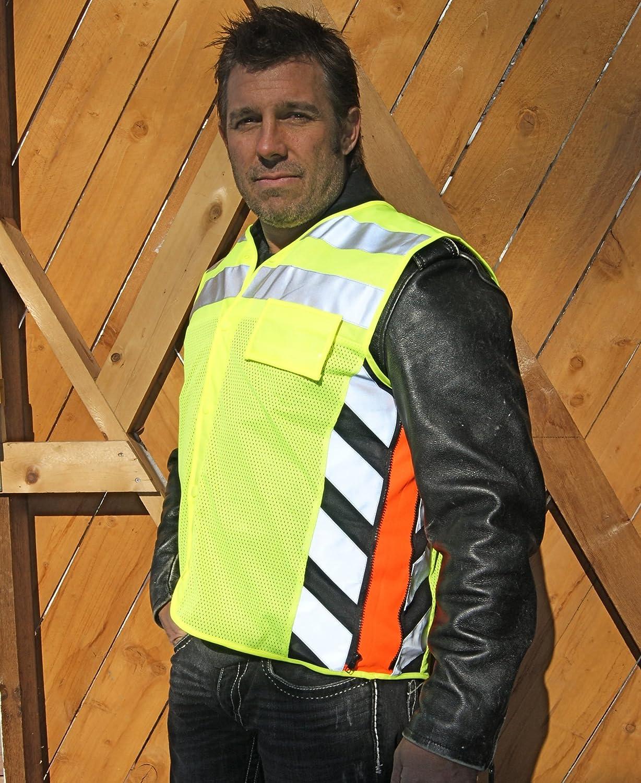 Missing Link Meshed Up Expandable Safety Vest HiViz Green//Orange, Medium