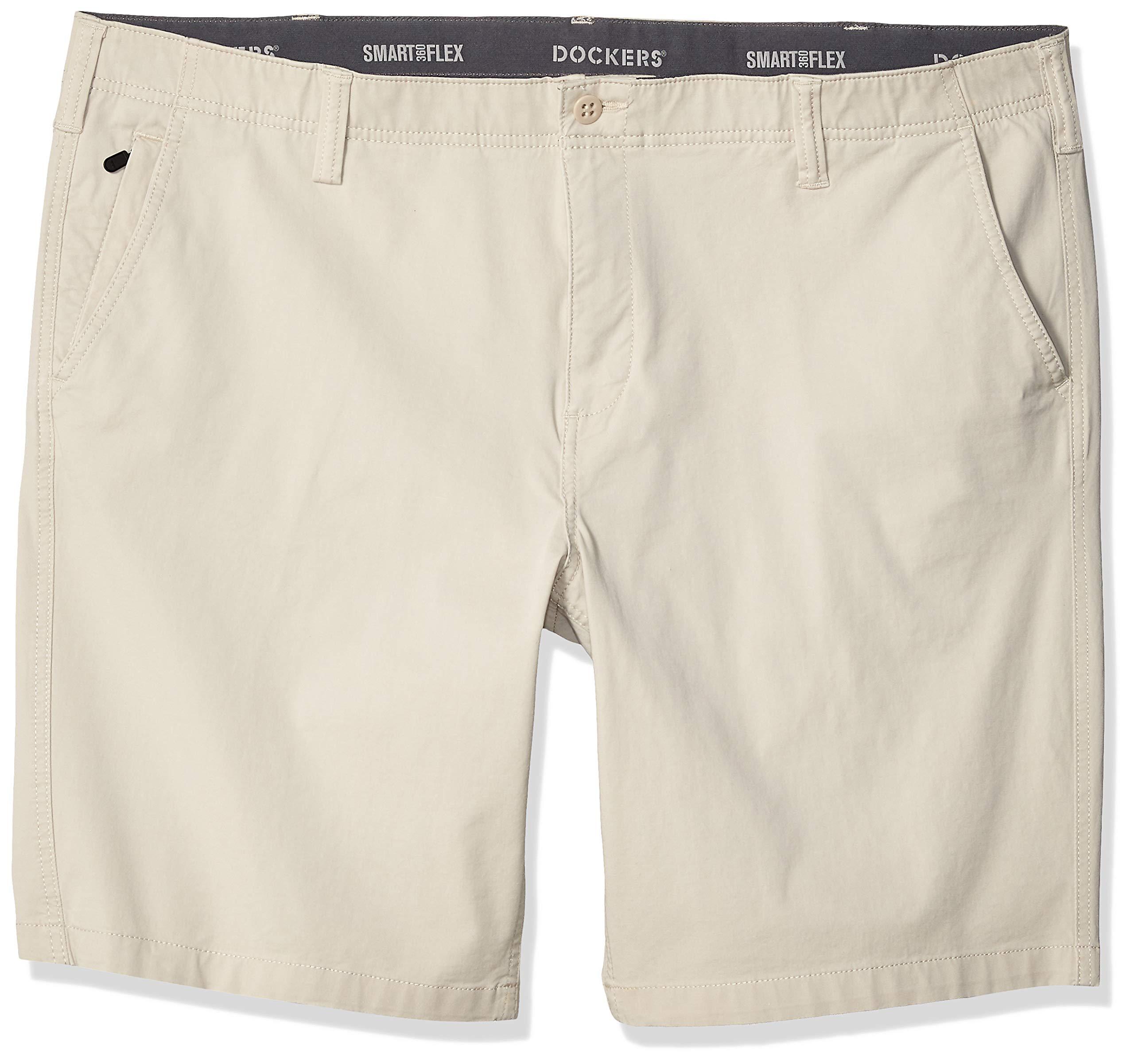Dockers Men's Big and Tall Big & Tall Smart 360 Flex Short, Sahara Khaki, 52W