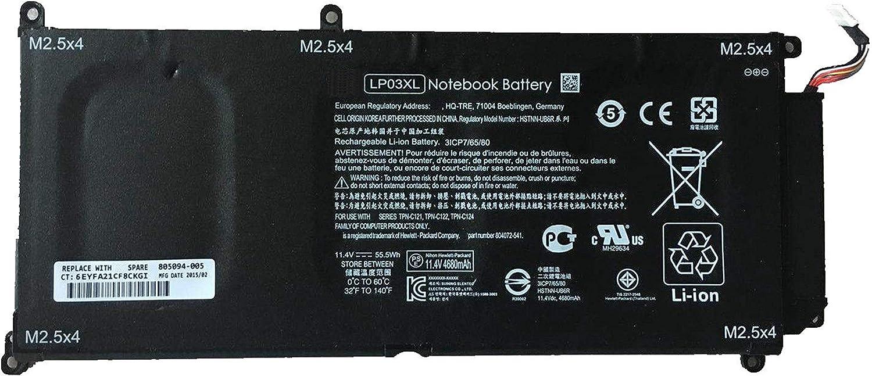Dentsing 11.4V 55.5Wh/4680mAh LP03XL 804072-541 Laptop Battery Compatible with HP Envy 14-J 15T-AE M6-P Series Notebook LP03048XL 804072-241 804072-541 807211-221 807211-241 HSTNN-DB7C