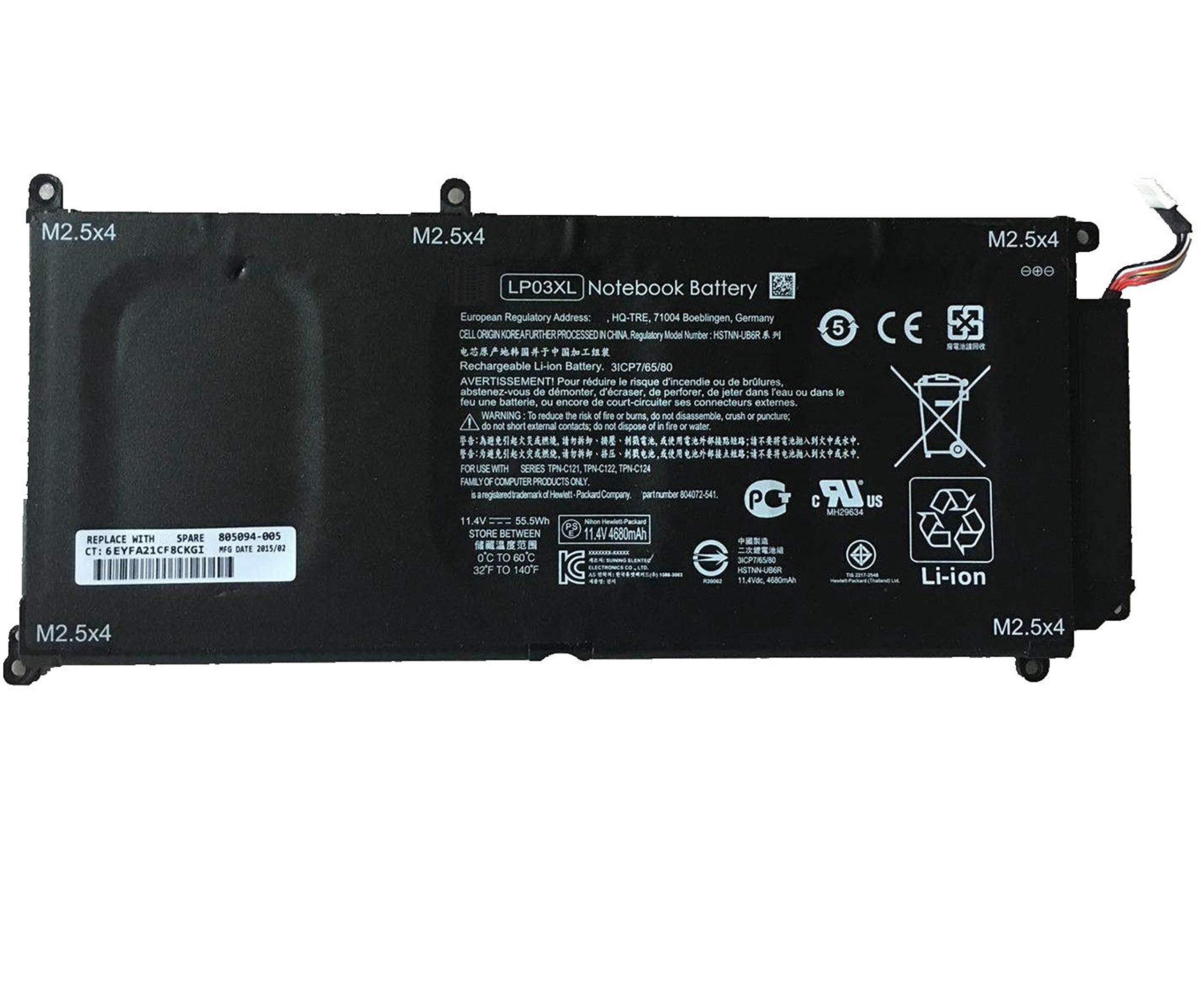 Bateria Lp03xl Lp03048xl Hp Envy M6-p M6-p113dx M6-p013dx En