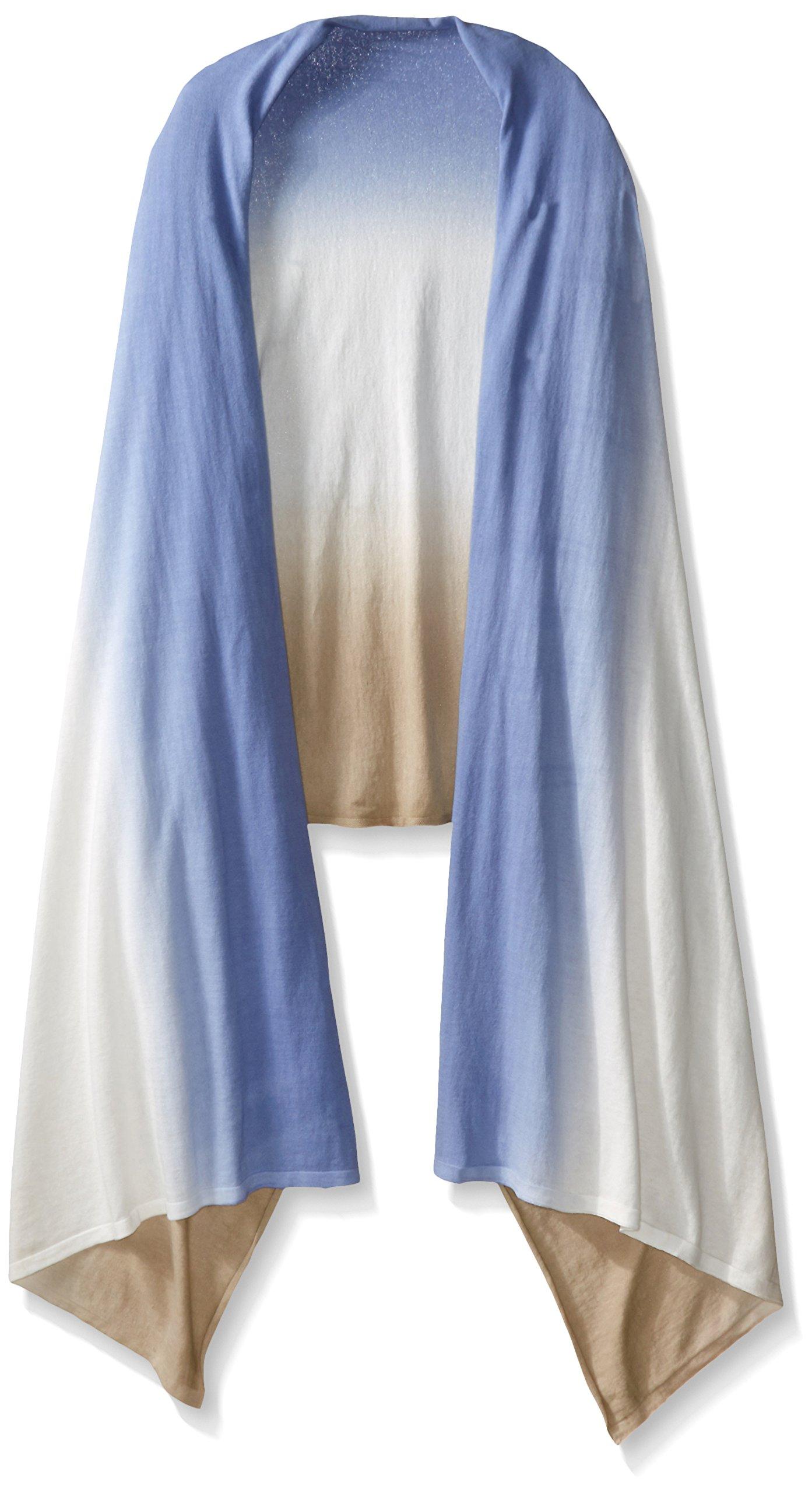 Minnie Rose Women's Cotton Double Dip Dye Blankie Wrap, Sandstone/Lace Agate, One Size