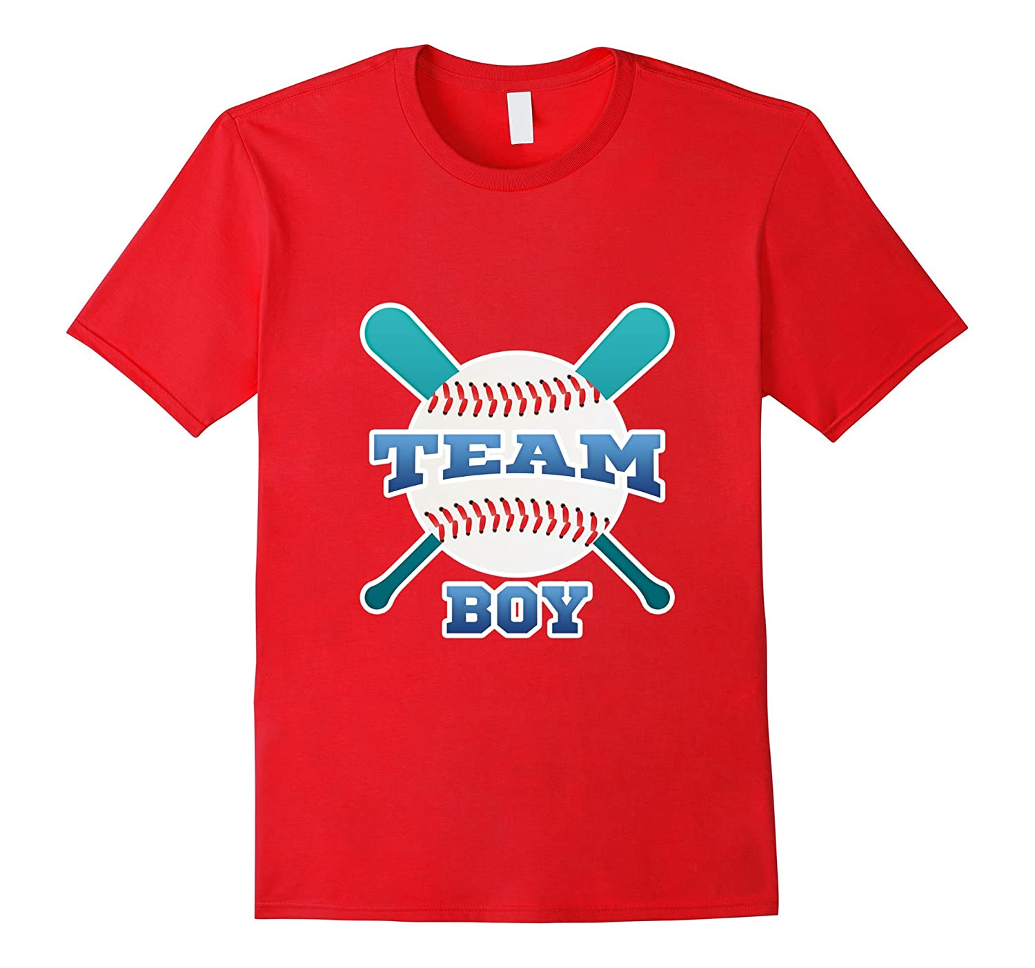Mens pink or blue we love you shirt men daddy team boy baseball