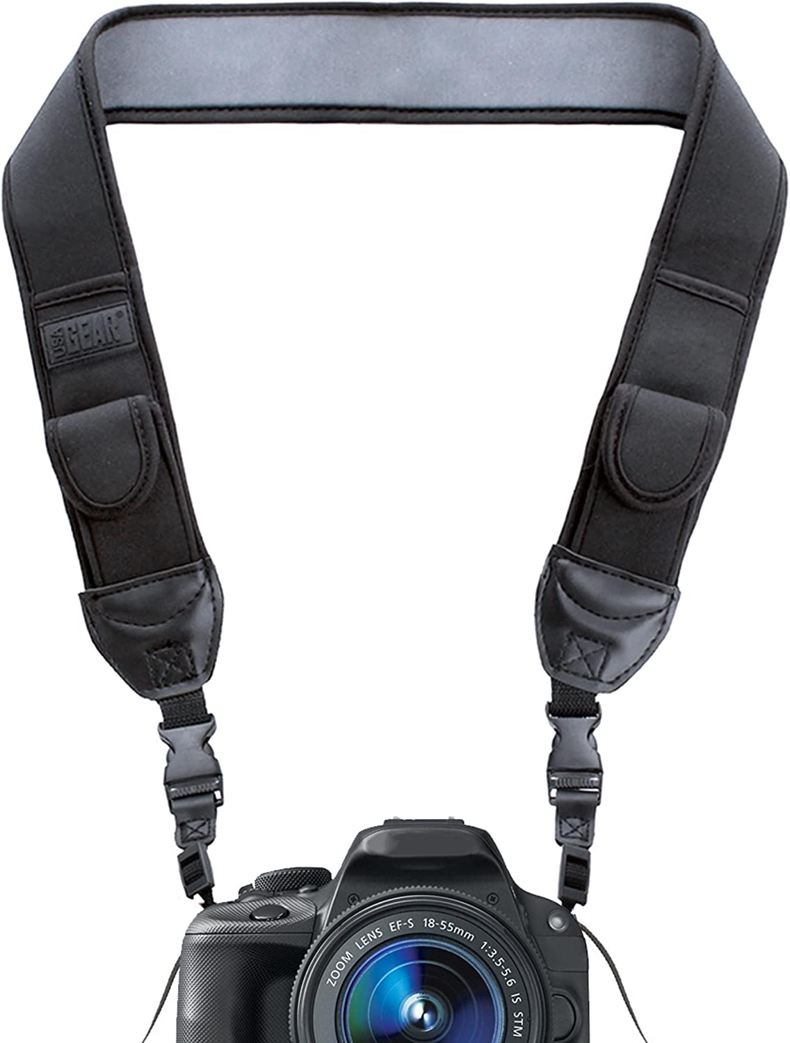 Camera Shoulder Neck Strap with Quick Disconnects for Canon Sony Black
