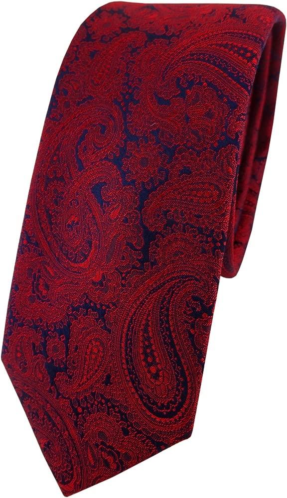 TigerTie - Corbata - Paisley - para hombre rojo weinrot ...