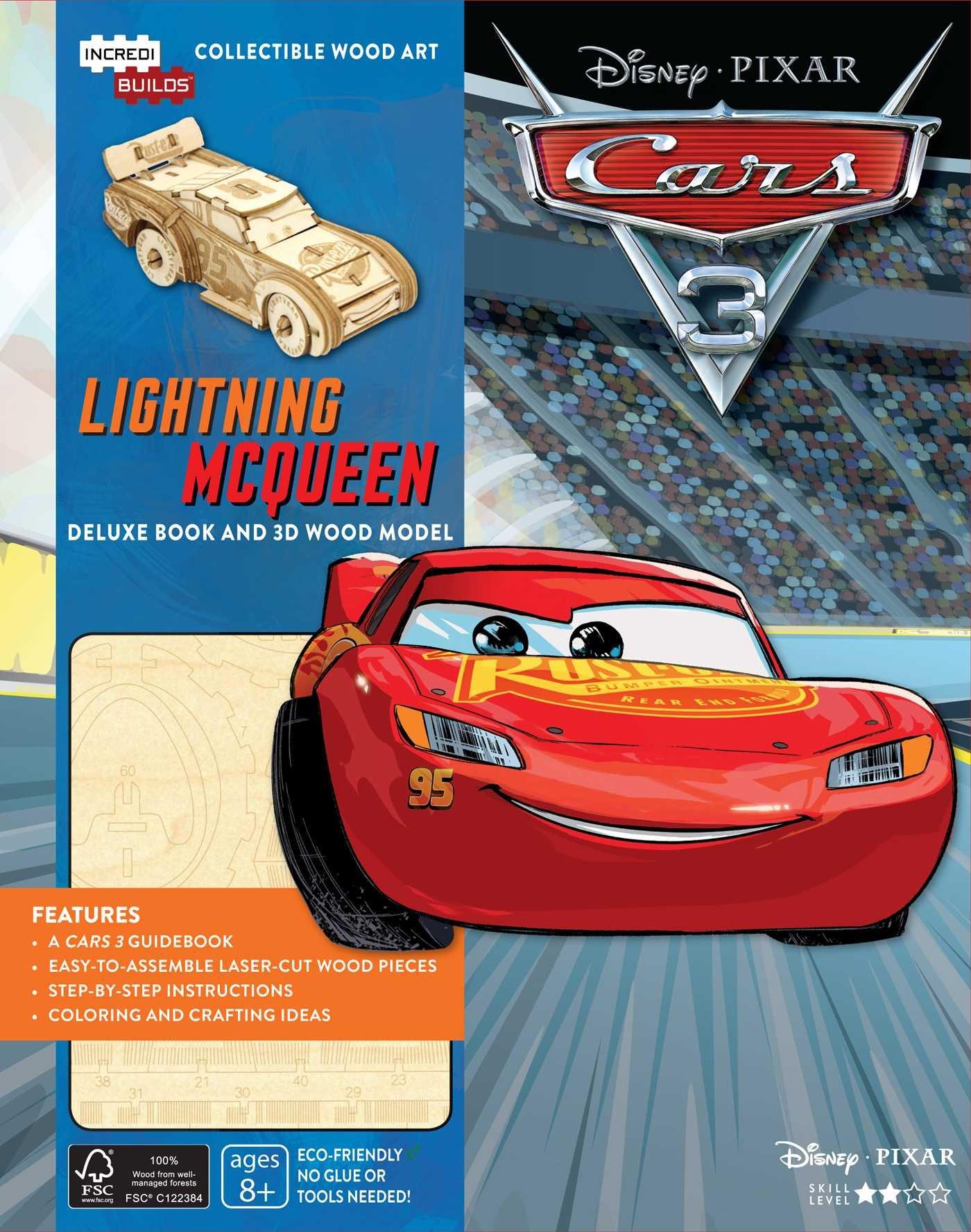 IncrediBuilds: Disney Pixar Cars 3: Lightning McQueen Deluxe Book and Model  Set: Barbara Bazaldua: 9781682981221: Amazon.com: Books
