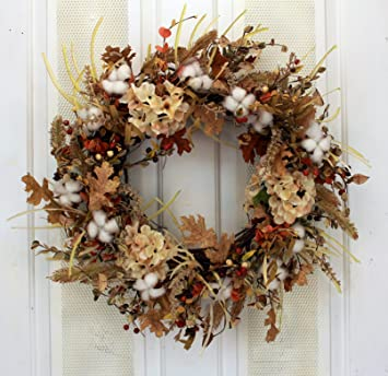 Autumn Cotton Fields Fall Decorative Wreath Front Door Indoor Seasonal  Autumn Home Decor
