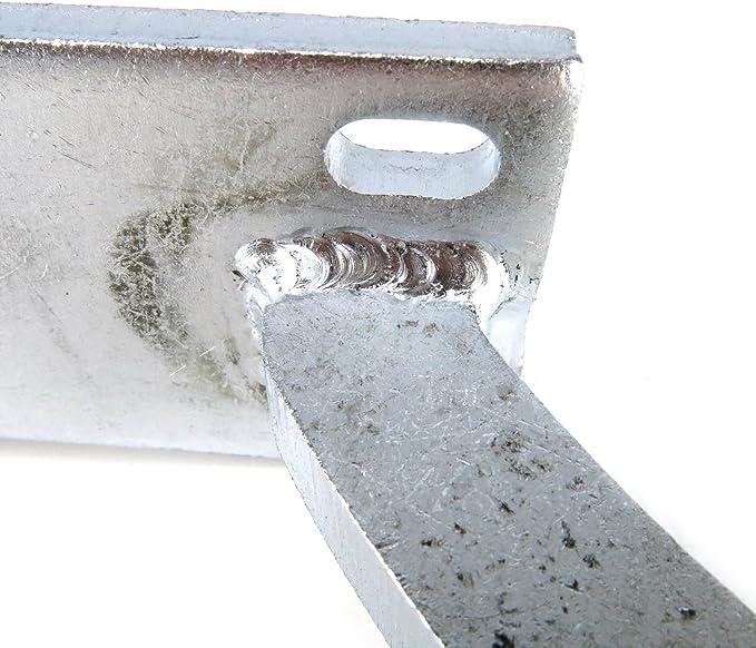 Universal Paintable White Zinc Plated Trunk Hinge Kit AutoLoc AUTTRH truck