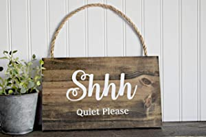 Shhh Quiet Please Wood Sign Door Sign Spa Sign Treatment Sign Massage Sign Therapy Sign