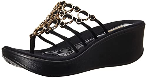 1c337a715 Catwalk Black Slip-on Sandals for Women s  Buy Online at Low Prices ...
