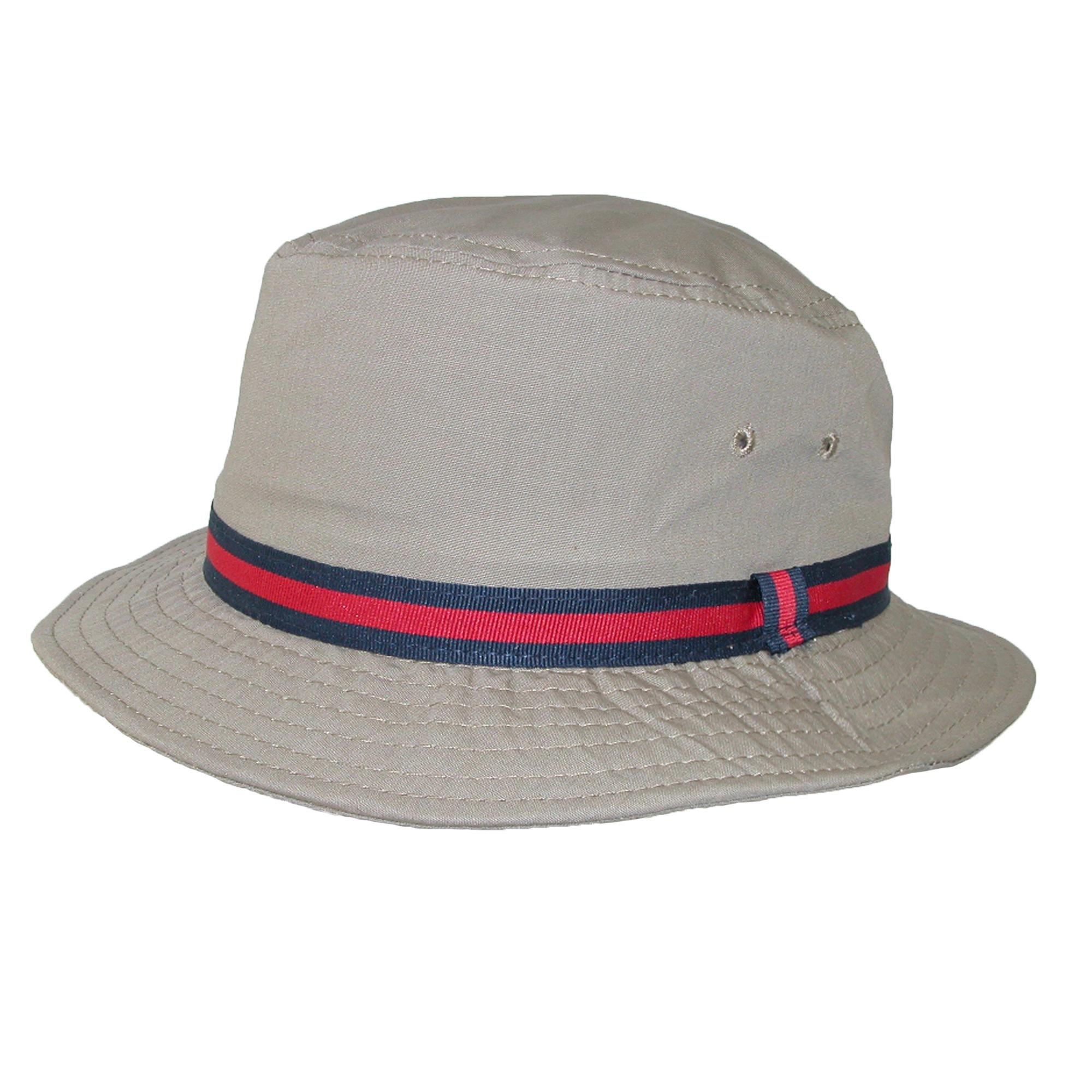 Scala Classico Rain Hat - Bucket Hat by Dorfman Pacific (British Tan Large)