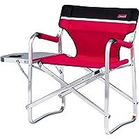 Deck Chair ile masa/raf Kırmızı Coleman kamp sandalyesi