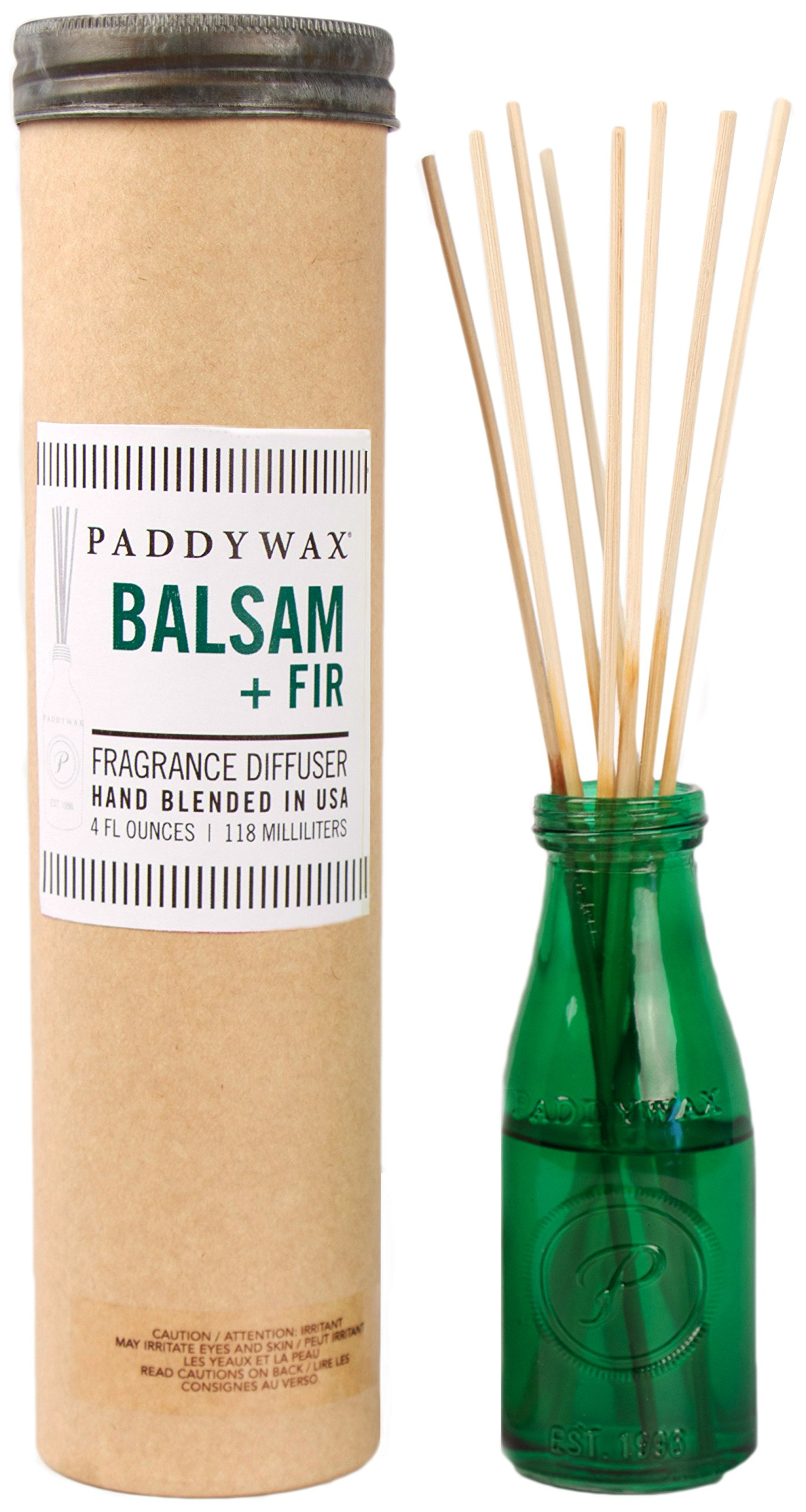 Paddywax Relish Collection Reed Oil Diffuser Set, Balsam Fir