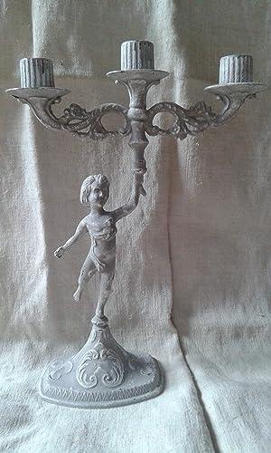 Chandelier Ange Patiné Feutrine Et Blanc Amazon Fr Handmade