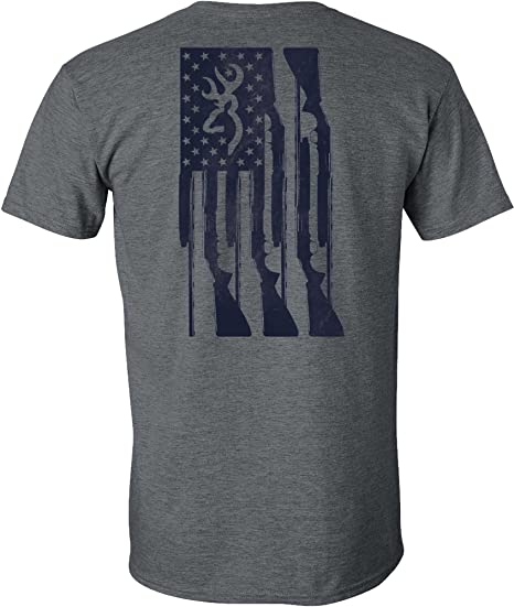 03a95796 Amazon.com: Browning Men's Rifle Flag Short Sleeve T-Shirt: Sports ...