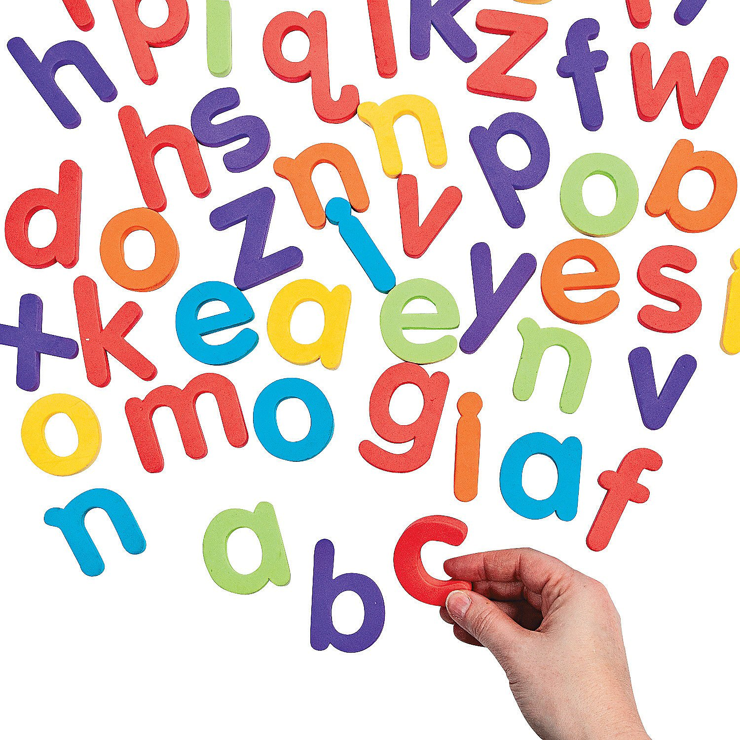 Fun Express - Solid Foam Letters - Lower Case - Educational - Teaching Aids - Language Arts - 62 Pieces by Fun Express