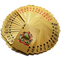 Magicwand 24 K Gold Plated Poker Playing Cards (Gold)