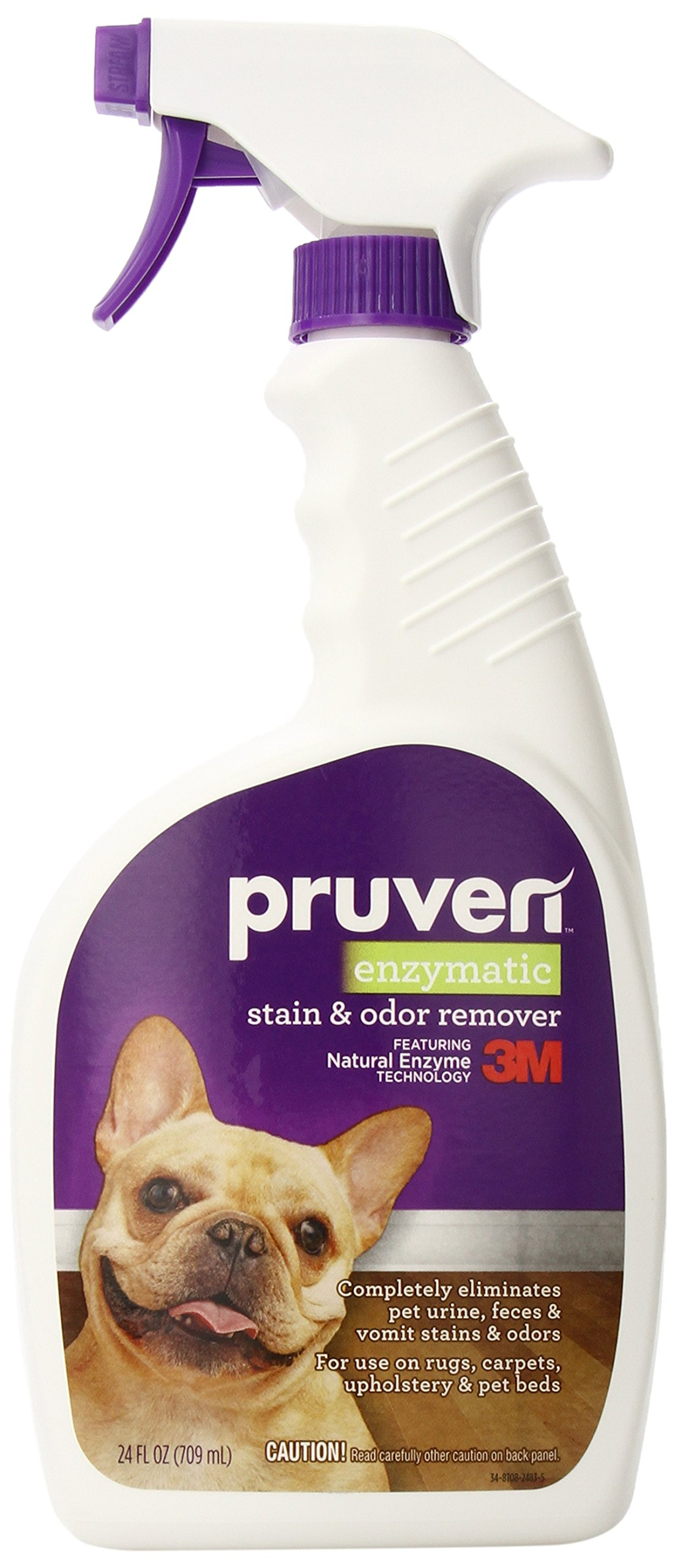 Pruven P-ENZ-24 Enzymatic Stain and Odor Remover with Trigger Spray, 24 Fluid Ounce