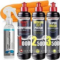 detailmate Menzerna auto polijstset: Menzerna Heavy Cut Compound 1000 + Medium Cut Compound 2500 + Super Finish 3500…