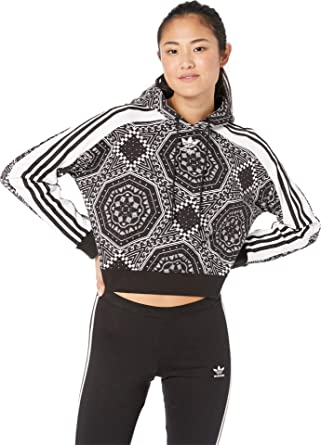 offer discounts amazing selection the cheapest adidas Originals Women's Cropped Hoodie Black/White Medium