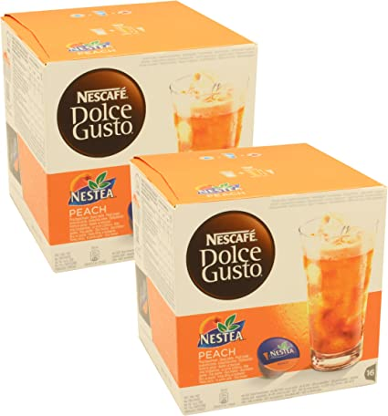 Nescafe Dolce Gusto Nestea Iced Tea Peach Pack Of 2 2 X 16 Capsules Amazon Ca Grocery