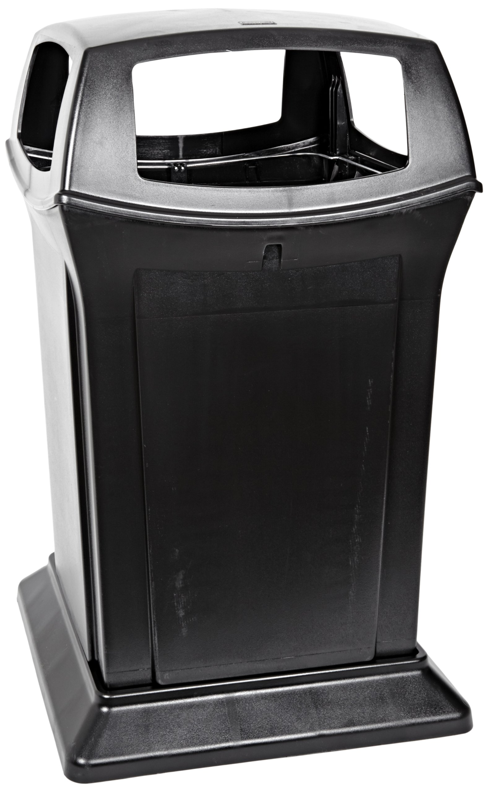 Rubbermaid Commercial Ranger Trash Can, 45 Gallon, Black, FG917388BLA