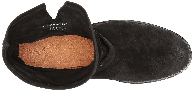 FRYE Women's Natalie Short Lug Engineer Boot B01MQZ6WEA 9 B(M) US|Black Soft Oiled Suede