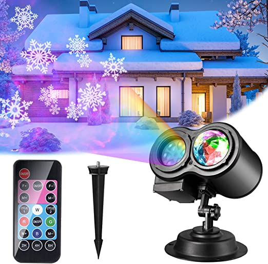 Luces de Proyector Navidad, ALED LIGHT Impermeable Exterior ...